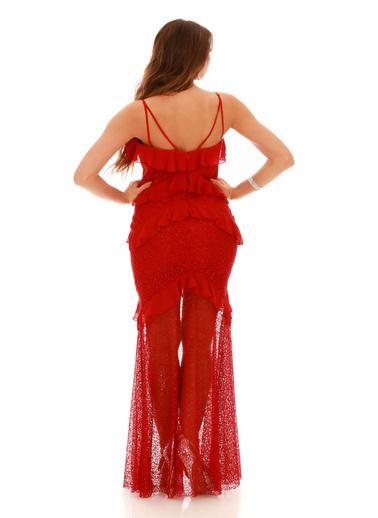 Pierre Cardin Abiye Elbise Kırmızı